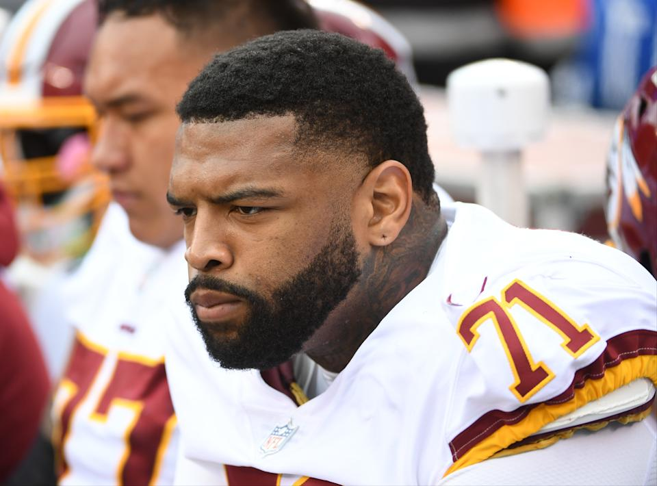 Washington Redskins offensive tackle Trent Williams (71) told the media he had cancer. (Getty Images)