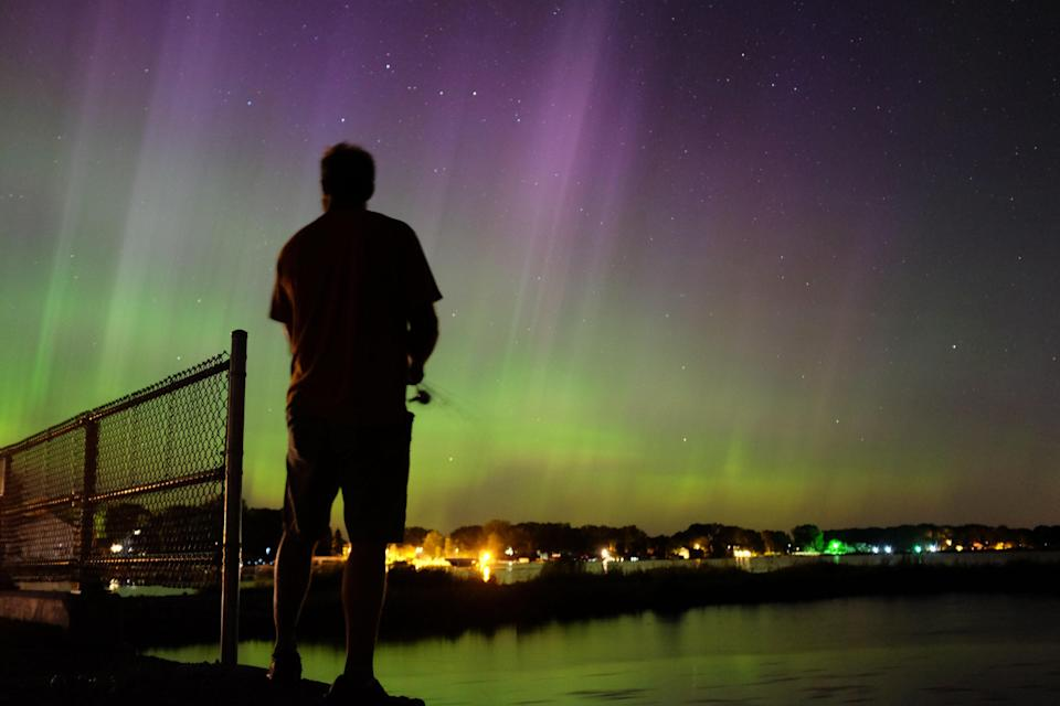 <em>Stunning – the Northern Lights are usually something you have to travel for but you might catch a glimpse over the UK this week (Pictures: AP)</em>