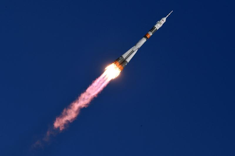 Russia's Soyuz MS-07 spacecraft took off from the Baikonur Cosmodrome at 0721 GMT (AFP Photo/Kirill KUDRYAVTSEV)