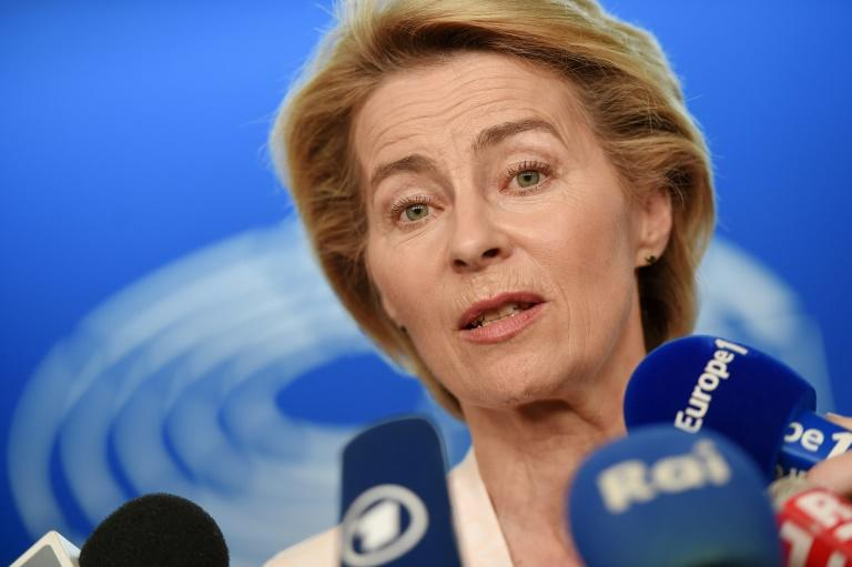 Once dubbed 'the soloist', von der Leyen has drawn envy and animosity for her best-in-class style (AFP Photo/FREDERICK FLORIN)