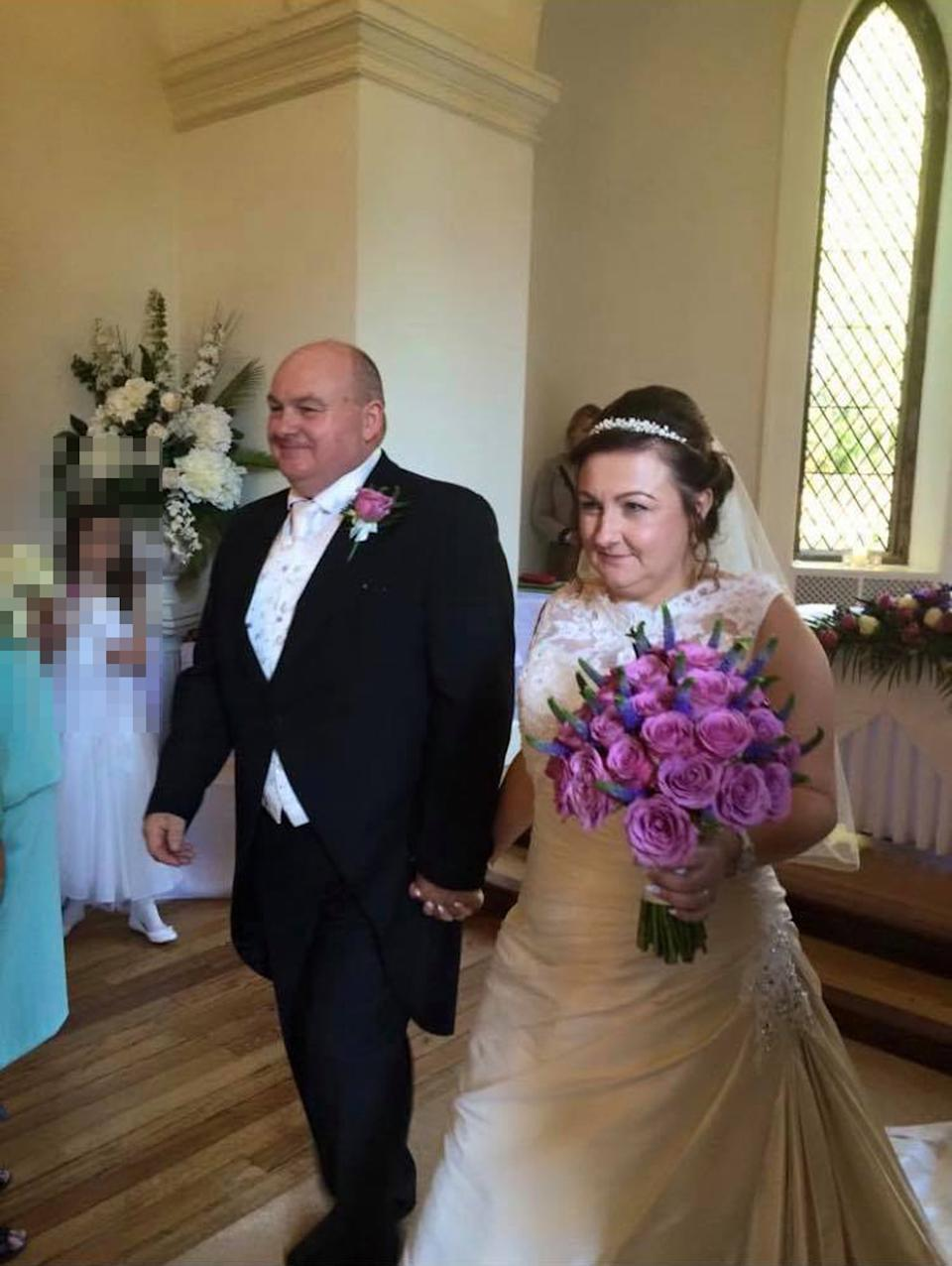 Couple with an age gap getting married