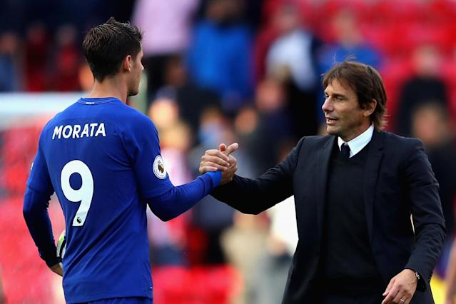 Chelsea boss Antonio Conte avoids questions over Alvaro Morata's World Cup spot after striker is left out of Spain squad
