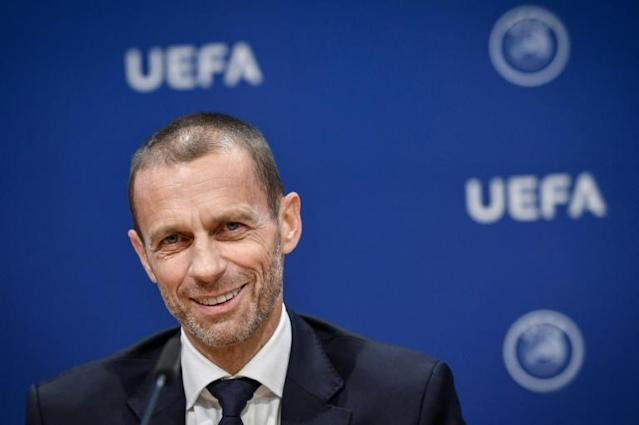 UEFA president Aleksander Ceferin said on Wednesday he wants VAR to be clearer (AFP Photo/Fabrice COFFRINI)
