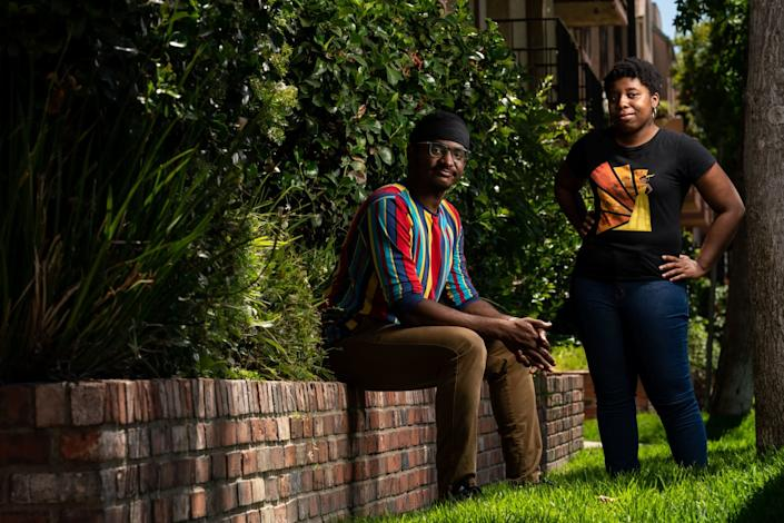 "Waymond Singleton and Breana Williams of Black N' Animated and its associated podcast. <span class=""copyright"">(Kent Nishimura / Los Angeles Times)</span>"