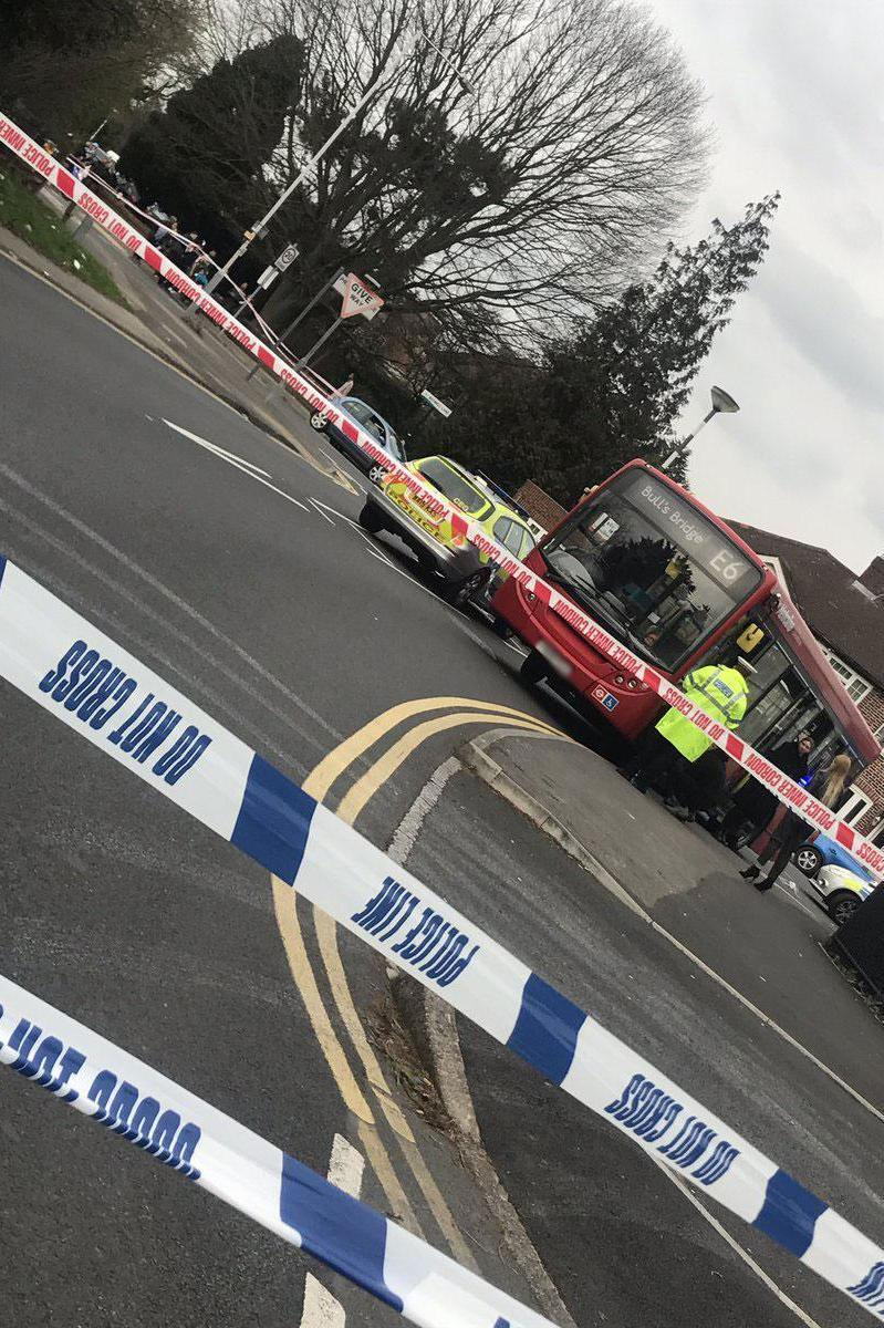 Police tape cordoned off the scene at Printing House Lane in Hillingdon. (@MEG4AN_FOX)