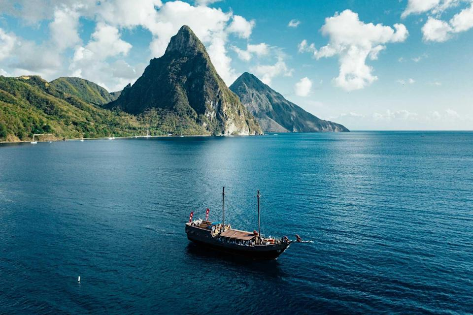 St Lucia, in the Caribbean