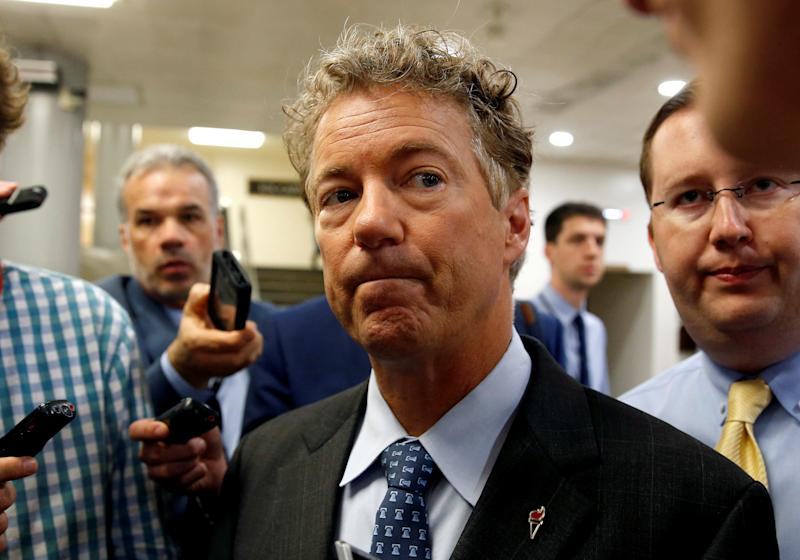 Sen. Rand Paul threatened to hold up passage of the National Defense Authorization Act, which sets forth the Pentagon's budget, unless the Senate voted on repealing the 2001 and 2002 authorizations for the use of military force.