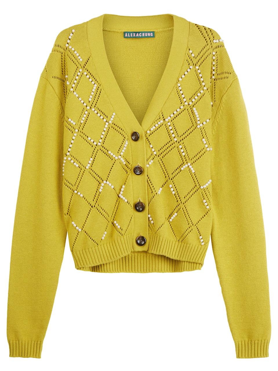 """<br><br><strong>Alexa Chung</strong> Embroidered Cardigan, $, available at <a href=""""https://www.alexachung.com/uk/r20embroidered-cardiganc3200?utm_source=googleshopping&utm_medium=cpc&utm_campaign=googleshopping&gclid=EAIaIQobChMIvrrjicD_6wIVQud3Ch0ZSgtUEAQYBiABEgLkAPD_BwE&gclsrc=aw.ds"""" rel=""""nofollow noopener"""" target=""""_blank"""" data-ylk=""""slk:Alexa Chung"""" class=""""link rapid-noclick-resp"""">Alexa Chung</a>"""