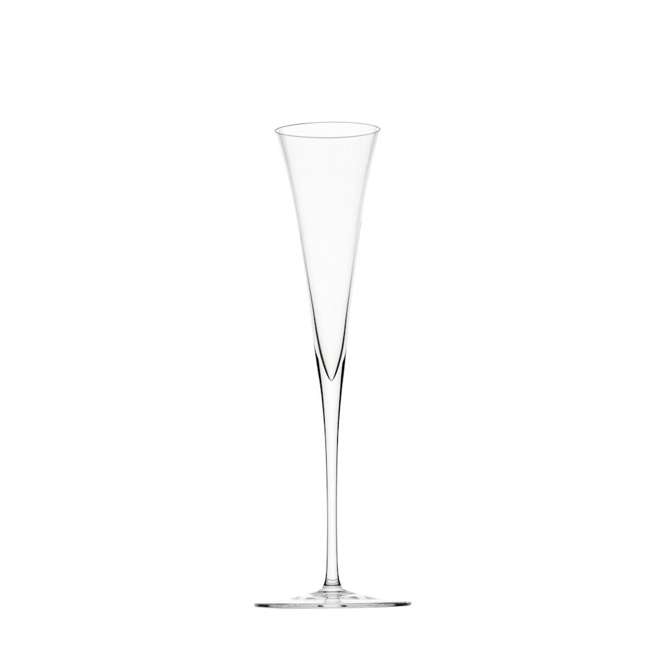"""<p><strong>Lobmeyr</strong></p><p>collectoworld.com</p><p><strong>$145.00</strong></p><p><a href=""""https://www.collectoworld.com/collections/tabletop/products/ambassador-champagne-flute"""" rel=""""nofollow noopener"""" target=""""_blank"""" data-ylk=""""slk:Discover"""" class=""""link rapid-noclick-resp"""">Discover</a></p><p>Constructed from muslin glass, cut by hand, and designed in 1925 with help from architect Oswald Haerdtl, these mesmerizing Champagne flutes are ultrachic and look even more inviting when filled with bubbly. </p>"""