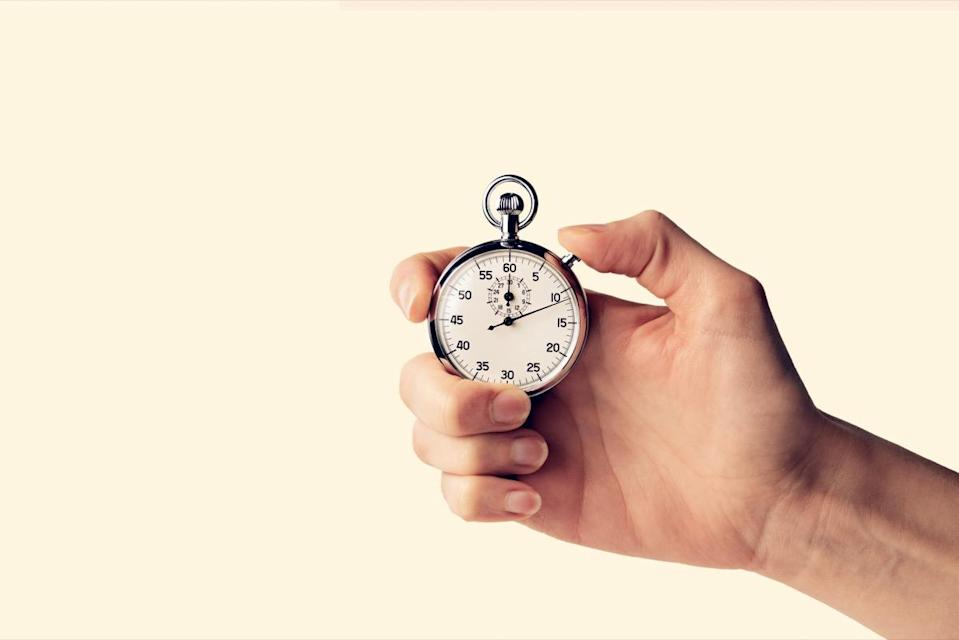 If you can't neaten up a room in 20 minutes or less, you've likely got too much stuff in it, says McCubbin. Set a stopwatch, time your clean-up, and if you've still got clutter once the clock runs out, it's time to start giving things away or tossing them.