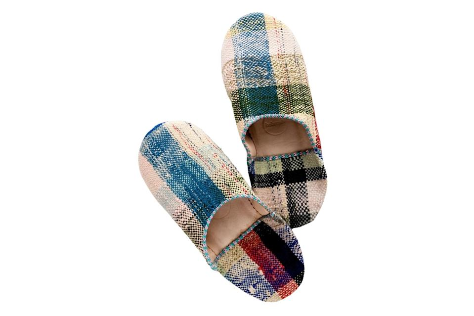 "$65, Leif Shop. <a href=""https://www.leifshop.com/collections/new-arrivals/products/moroccan-boujad-fabric-slippers?variant=32161037942878"" rel=""nofollow noopener"" target=""_blank"" data-ylk=""slk:Get it now!"" class=""link rapid-noclick-resp"">Get it now!</a>"