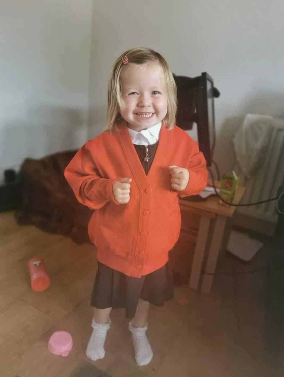 Evie excited to attend nursery. PA REAL LIFE COLLECT