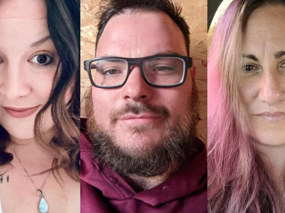 Alberta residents, from left, Danielle Barnsley, Chanse Mackinnon and Jasmine Lee Boutin say their families have changed because of disagreements over COVID-19 and vaccination. (Submitted by Danielle Barnsley, Chanse Mackinnon and Jasmine Lee Boutin - image credit)