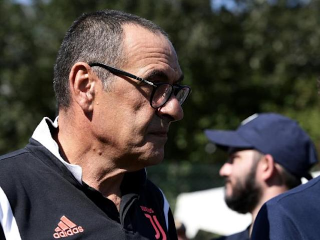 Maurizio Sarri missed Juventus's first two matches because of pneumonia (AFP Photo/Isabella BONOTTO)