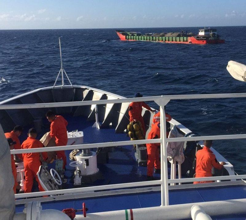 Coast Guard rescues stranded barge; 4 crew members safe
