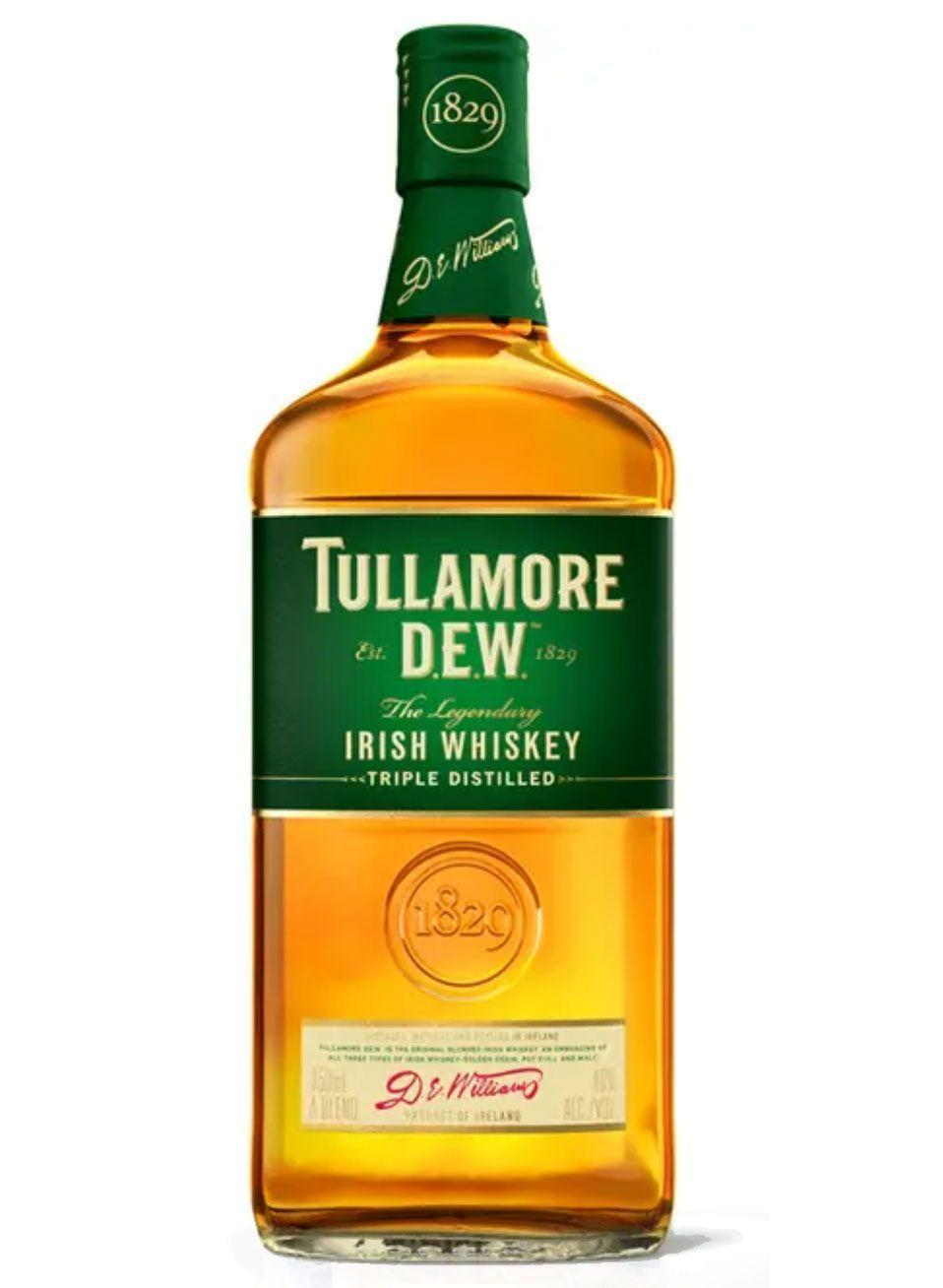"""<p><strong>Tullamore</strong></p><p>drizly.com</p><p><strong>$27.80</strong></p><p><a href=""""https://go.redirectingat.com?id=74968X1596630&url=https%3A%2F%2Fdrizly.com%2Fliquor%2Fwhiskey%2Firish-whiskey%2Ftullamore-dew-irish-whiskey%2Fp374%3Fvariant%3D522&sref=https%3A%2F%2Fwww.delish.com%2Fentertaining%2Fg31132182%2Fbest-irish-whiskey%2F"""" rel=""""nofollow noopener"""" target=""""_blank"""" data-ylk=""""slk:BUY NOW"""" class=""""link rapid-noclick-resp"""">BUY NOW</a></p><p>If you want a sure-fire win, this whiskey is your best bet. It's the second-largest selling brand of Irish whiskey in the world. It's more gentle than some other Irish whiskeys, making it perfect for those who aren't usually comfortable drinking whiskey without a mixer. </p>"""