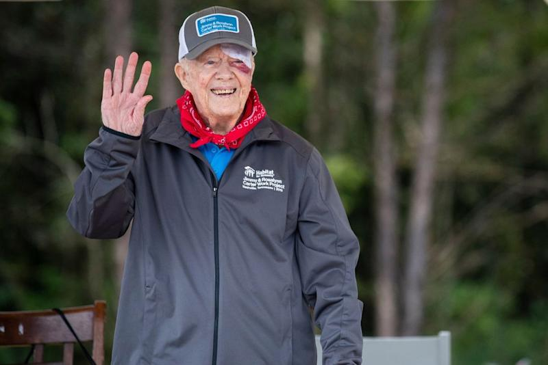Former President Jimmy Carter in October at his annual volunteer project with Habitat for Humanity | Habitat for Humanity International/