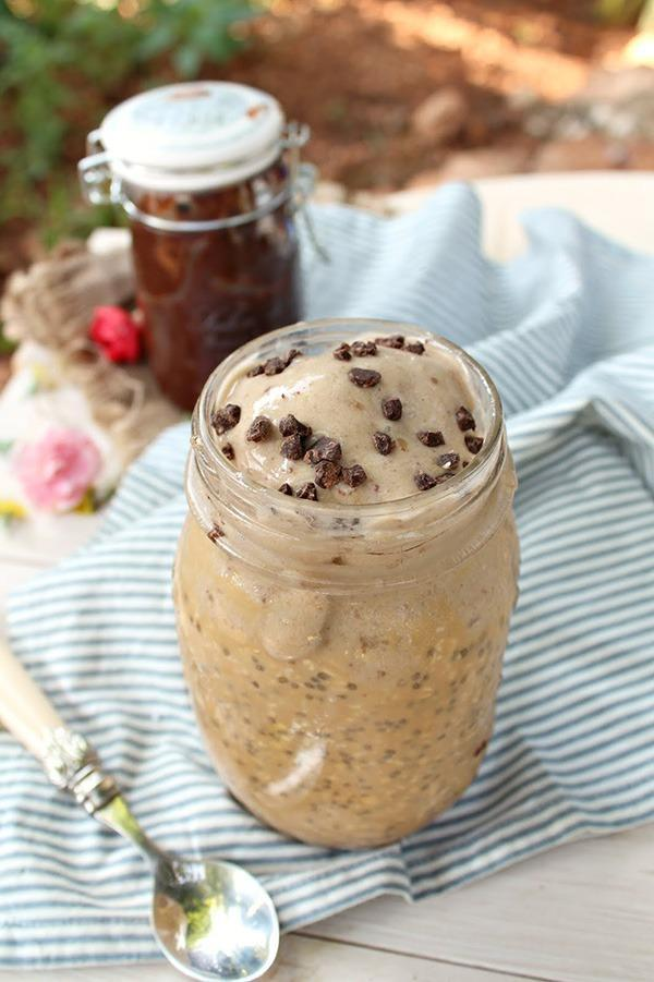 salted caramel overnight oats