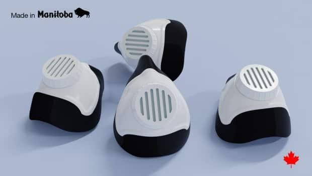 Early prototype designs of reusable N95 masks being designed by Precision ADM in Winnipeg. The government of Manitoba has ordered one million, one of several efforts underway to move away from single-use equipment and toward reusable medical supplies.