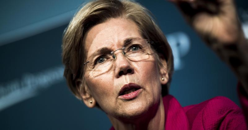 Elizabeth Warren (D-Mass.) is one of the senators calling on the Justice Department inspector general to investigate Attorney General Jeff Sessions.