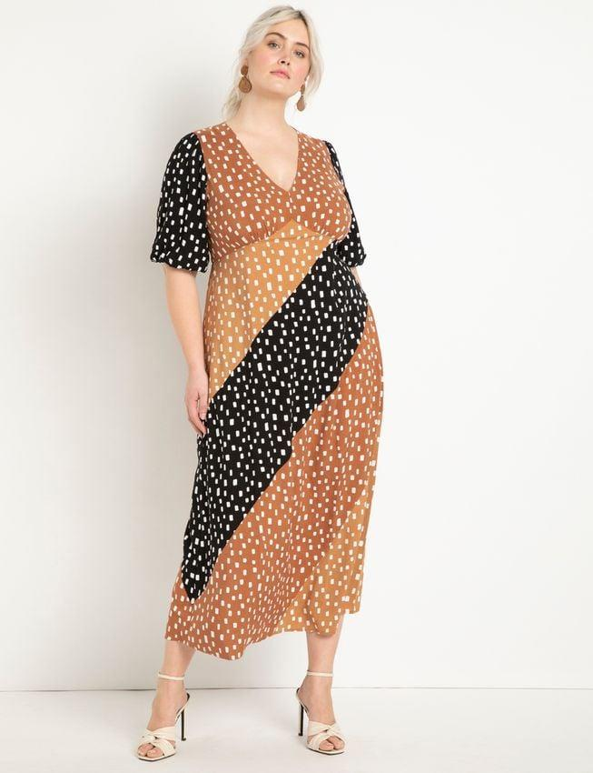 <p>This <span>Eloquii Mixed Dot Maxi Dress</span> ($140) is an ideal choice for a fancy dinner date or brunch party.</p>