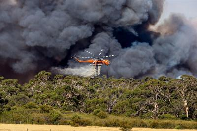 Six S-64 Air Crane® Helicopters Continue Fight in Australia