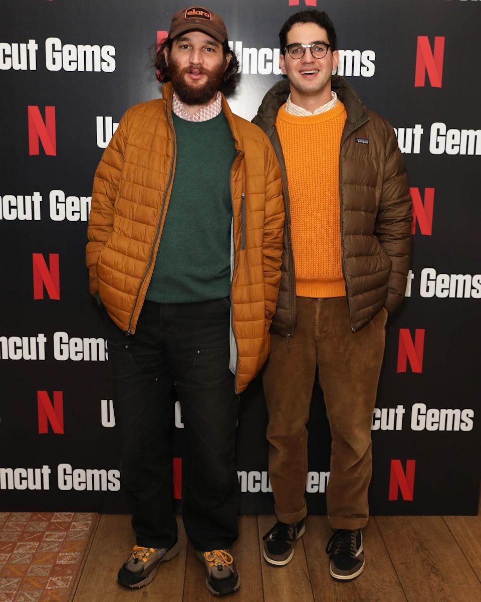 """<h1 class=""""title"""">December 6: Safdie Brothers</h1> <div class=""""caption""""> The Safdie brothers share DNA, and also a love of the rustic autumn palette. </div> <cite class=""""credit"""">David M. Benett / Getty Images</cite>"""