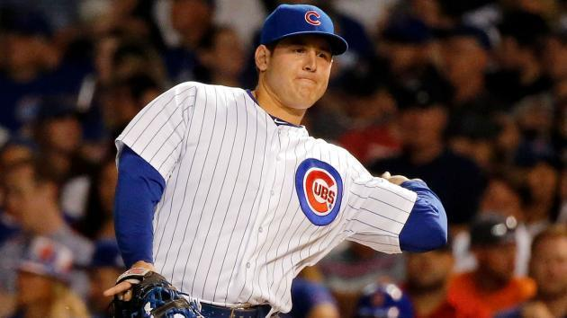 Cubs use lefty-throwing Anthony Rizzo at 3B, 'which is fun'