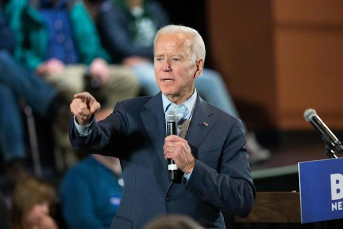 Leading Democratic presidential candidate Joe Biden said Trump tossed 'dynamite in to a tinderbox' with the attack (AFP Photo/Scott Eisen)