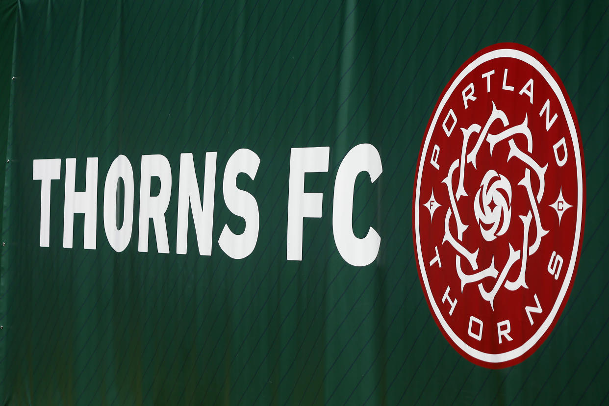A view of the Thorns FC logo