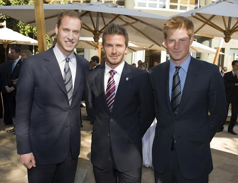 Prince William, David Beckham and Prince HarryReception for FIFA Officials on behalf of the English Football Association in honour of the 2010 FIFA World Cup, in Johannesburg, South Africa - 19 Jun 2010