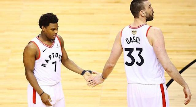 The Raptors have some playing time allocation decisions to make with Kyle Lowry and Marc Gasol. (Getty)
