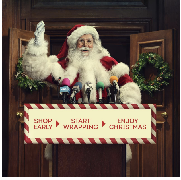 BRC's campaign tells UK consumers to 'shop early, start wrapping, enjoy Christmas'. Photo: British Retail Consortium