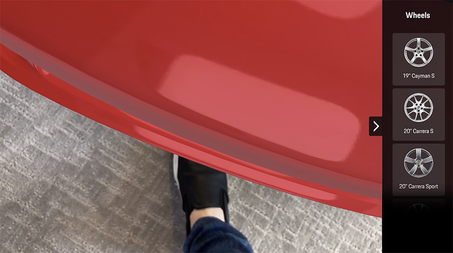 Talk about realism—you can actually stick your foot under the Porsche. It's freaky.