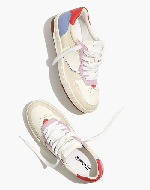<p>We're loving the colorblocking on these <span>Madewell Court Sneakers</span> ($110).</p>