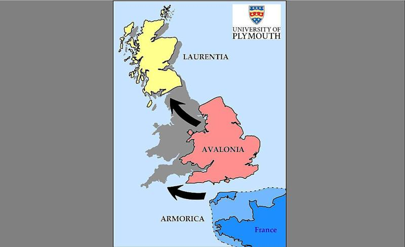Britain formed from three continents including huge chunk of France, scientists say