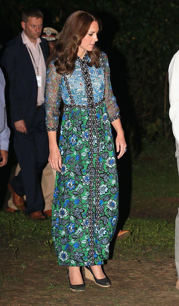 <p>The Duchess wore Anna Sui as she celebrated Bihu, the end of the harvest season, with the people of Tezpur.</p>