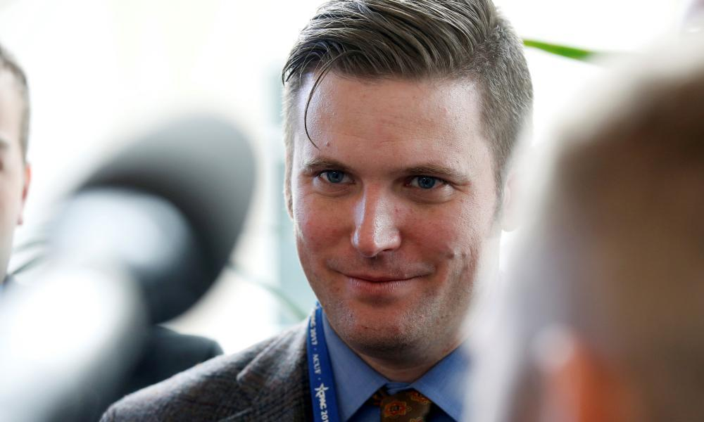 """<span class=""""element-image__caption"""">Richard Spencer. The city of Charlottesville voted to remove a statue of the Confederate general Robert E Lee, sparking a backlash from the so-called 'alt-right' community. </span> <span class=""""element-image__credit"""">Photograph: Joshua Roberts/Reuters</span>"""