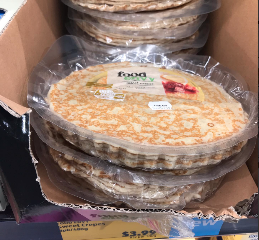 $4 Food Envy Sweet Crepes from Aldi