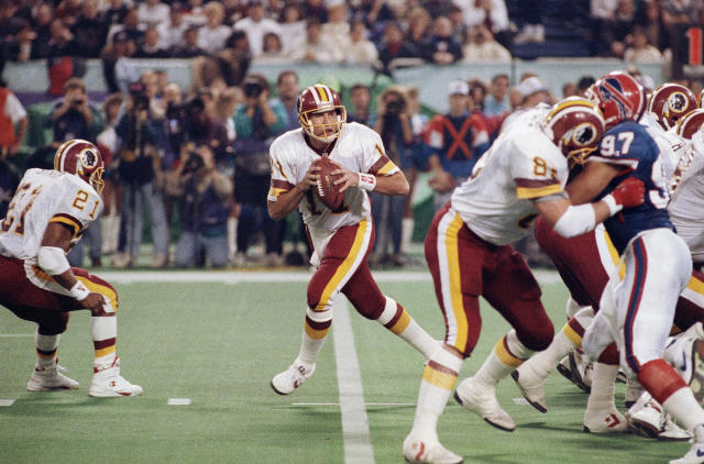 Mark Rypien won Super Bowl XXVI MVP after Washington beat the Buffalo Bills. (AP)
