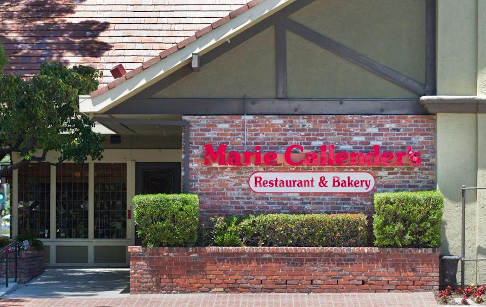 """<p>Hoping to enjoy all your Thanksgiving favorites without so much as lifting a finger—let alone turning on the oven? Head to Marie Callender's in Nevada or California, where you can pre-order and pick up a """"Thanksgiving feast"""" complete with mains, sides, and dessert. </p><p><strong><a href=""""https://www.mariecallenders.com/locations"""" rel=""""nofollow noopener"""" target=""""_blank"""" data-ylk=""""slk:Find a location"""" class=""""link rapid-noclick-resp"""">Find a location</a>.</strong></p>"""
