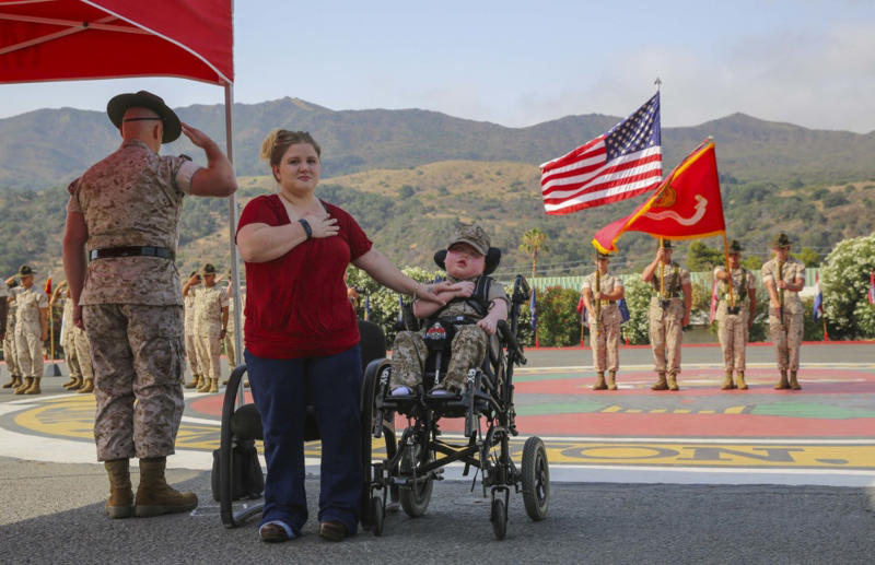 8-year-old boy dies day after being named honorary Marine
