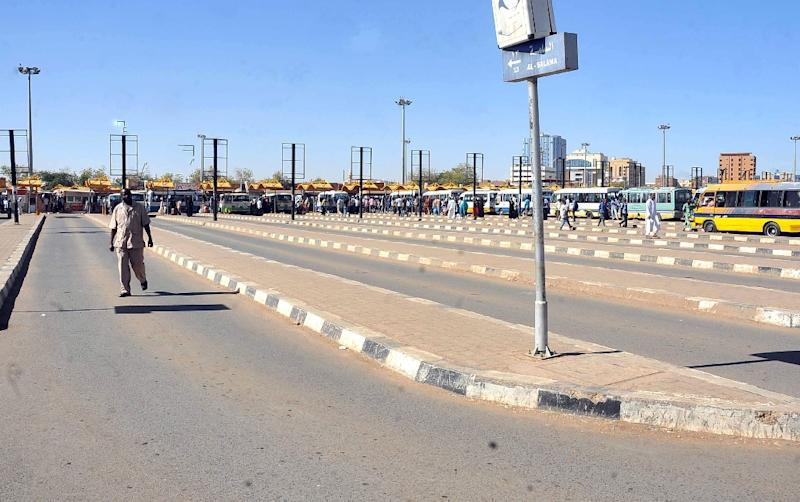 Bus stops in Khartoum remain empty, like this one seen in 2012, as a three-day strike call interrupts service as part of a protest to a government decision to hike fuel prices about about 30 percent that has lead to a sharp rise in the costs of goods (AFP Photo/Ebrahim Hamid)