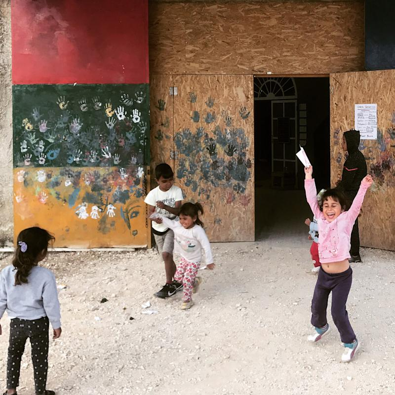 Children playing at Katsikas Camp in Greece in 2018. | Courtesy of Dina Nayeri