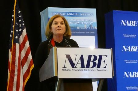 Kansas City Federal Reserve Bank President Esther George addresses the National Association for Business Economics in Denver