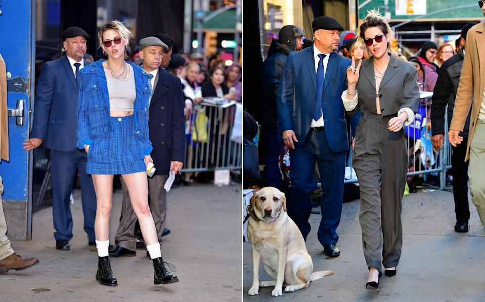 """<h1 class=""""title"""">November 6: Kristen Stewart</h1> <div class=""""caption""""> Today, we were blessed with not one, but two big Kristen Stewart fits. </div> <cite class=""""credit"""">Raymond Hall</cite>"""