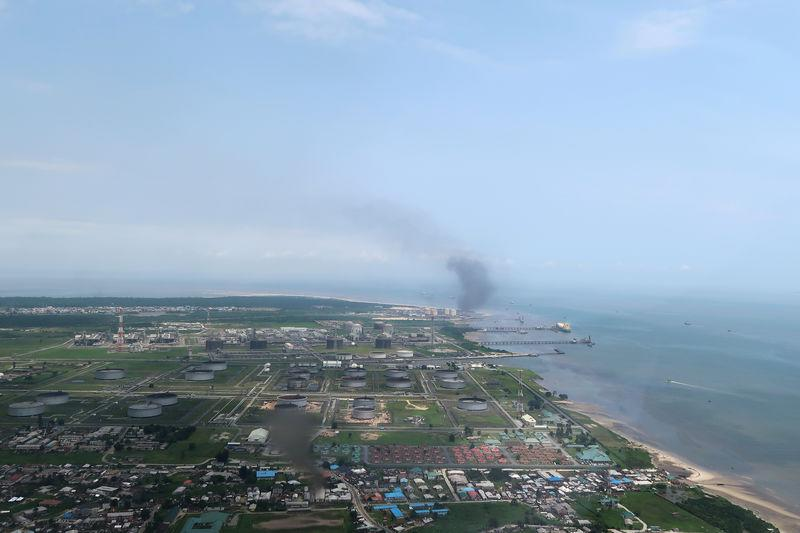 FILE PHOTO: A view shows the Bonny oil terminal in the Niger delta which is operated by Royal Dutch Shell in Port Harcourt