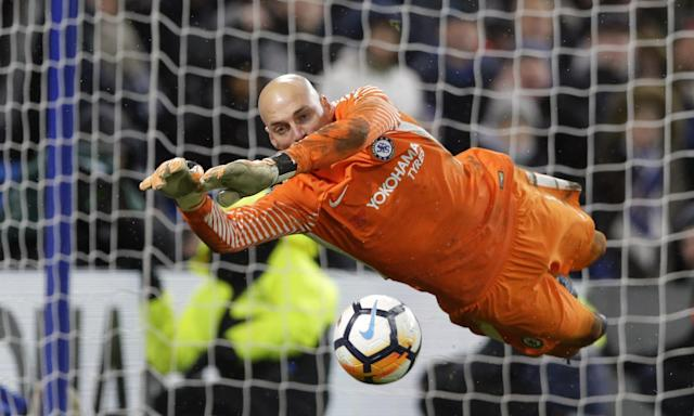 Chelsea's stand-in goalkeeper Willy Caballero ws the hero of the penalty shootout in the FA Cup third round replay win against Norwich City.