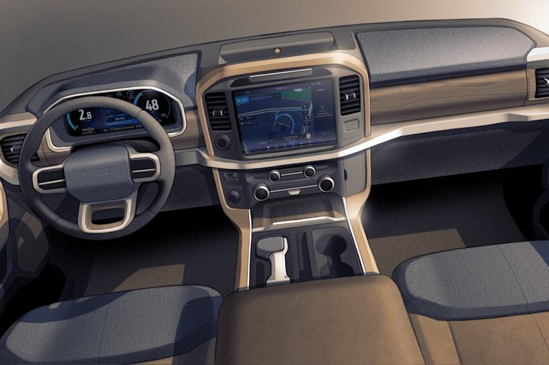 ford f 150 2021 all new interior sketch 01
