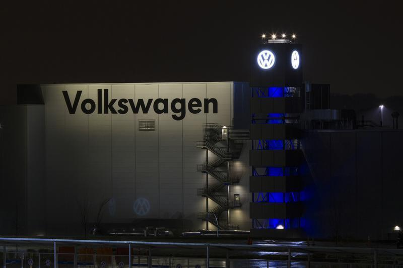 A general view of the Volkswagen plant in Chattanooga